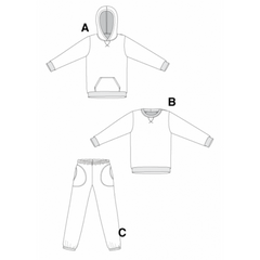 Jalie Sewing Patterns Sweatshirt, Hoodie and Sweat Pants - Patterns - Style Maker Fabrics