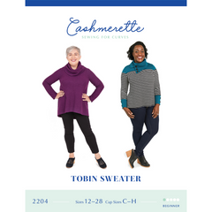 Cashmerette Sewing Patterns Tobin Sweater - Patterns - Style Maker Fabrics