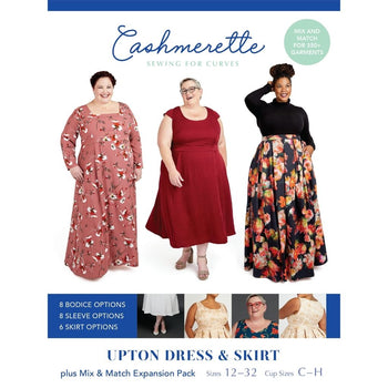 Cashmerette Sewing Patterns Upton Dress & Skirt (Plus Expansion Pack)