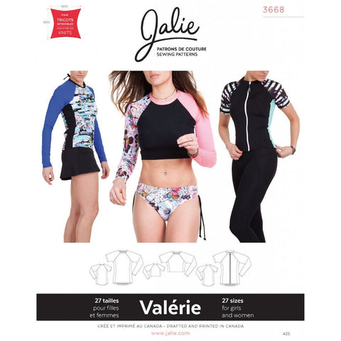 Jalie Sewing Patterns Valérie Swim Shirts