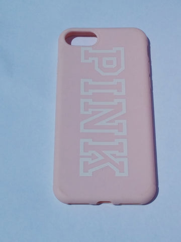 iPhone 8 Pink Case -Pink/White