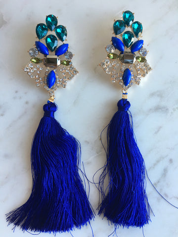 Gatsby Peacock Earrings - Willow Rose Boutique