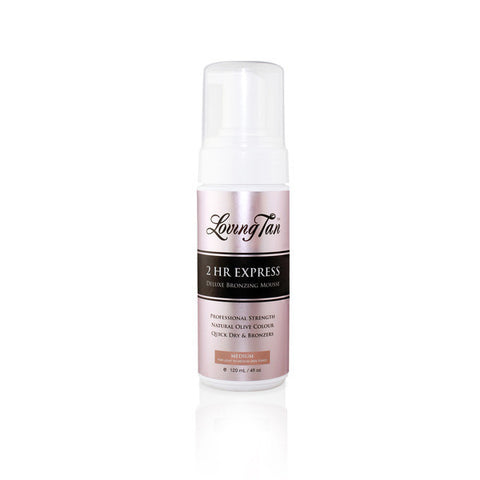 2 HR Express Self Tanning Mousse 120ml - Medium (Pre-Order) - Willow Rose Boutique