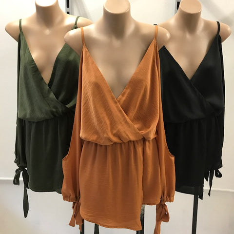 Goddess Playsuit - Rust
