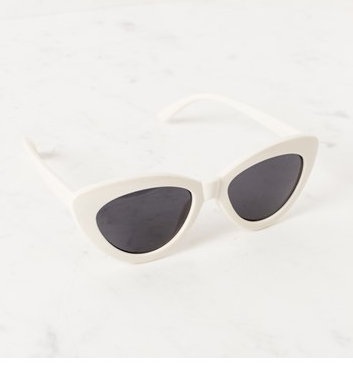 Cat Eye Sunglasses - White