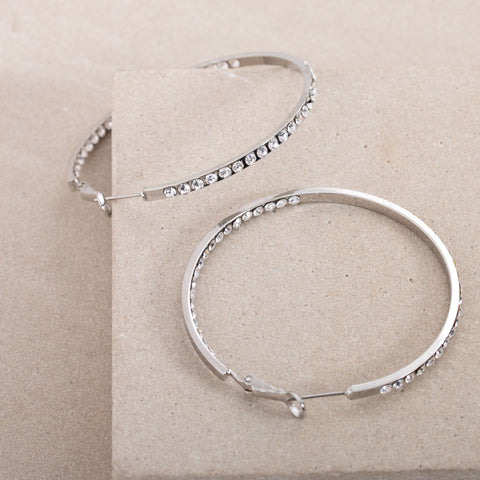 Medium Hoop Earrings - Silver - Willow Rose Boutique