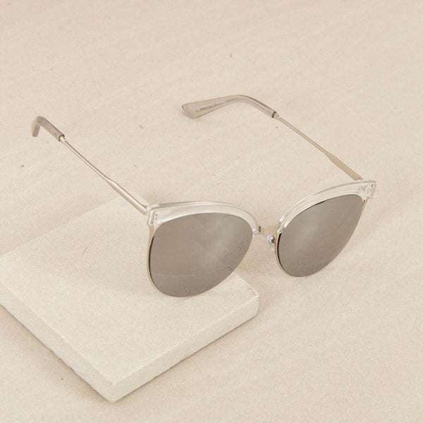 Retro Sunglasses - Clear