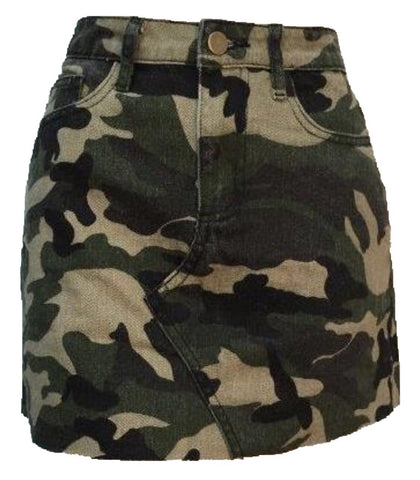 One More Time Skirt - Camo (Pre-Order) - Willow Rose Boutique