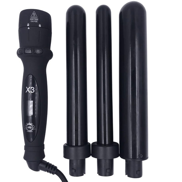 H2D Black X3 Professional Curling Wand 2018
