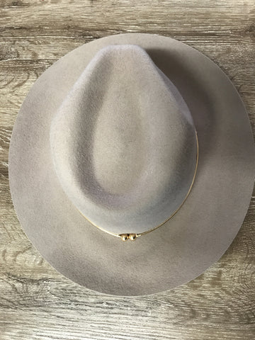 Trim Metal Hat - Grey - Willow Rose Boutique