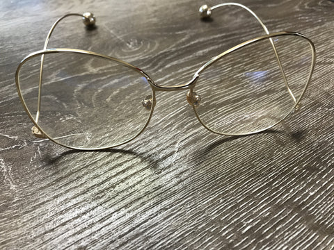 Clear Glasses - Gold - Willow Rose Boutique
