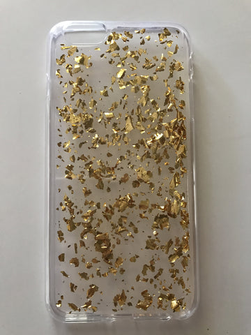 Gold Glitter iPhone Case 6s Plus