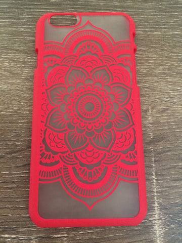 Mandala Lace iPhone 6 Case - Red