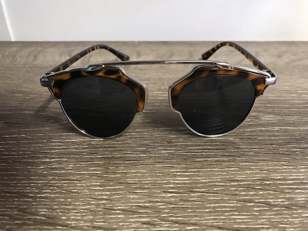 Kennedy Sunglasses - Tortoise Shell/Silver - Willow Rose Boutique