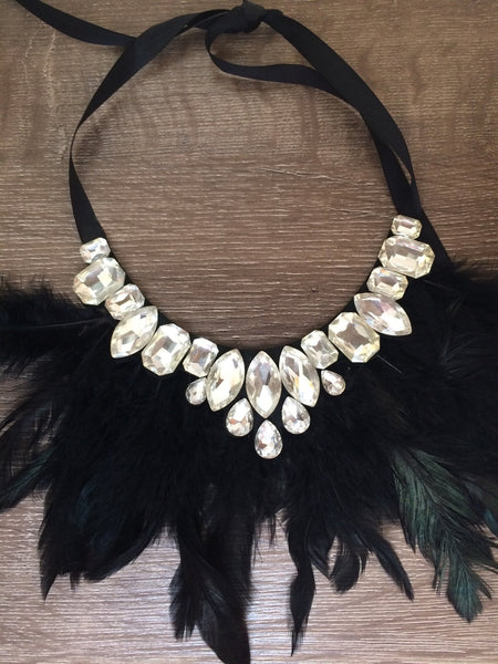 Juliette Feather Gatsby Necklace - Willow Rose Boutique