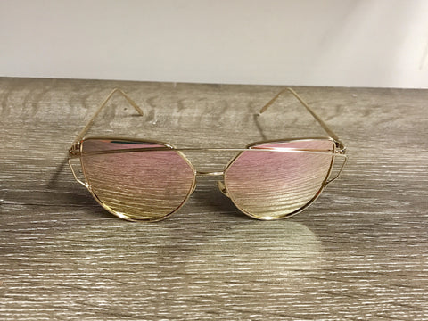 Rose Boutique Sunglasses - Gold/Pink