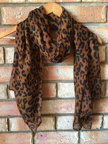 Leopard Scarf - Willow Rose Boutique