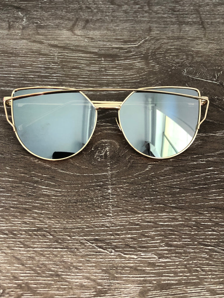 Jessica Sunglasses - Metal Grey/Gold