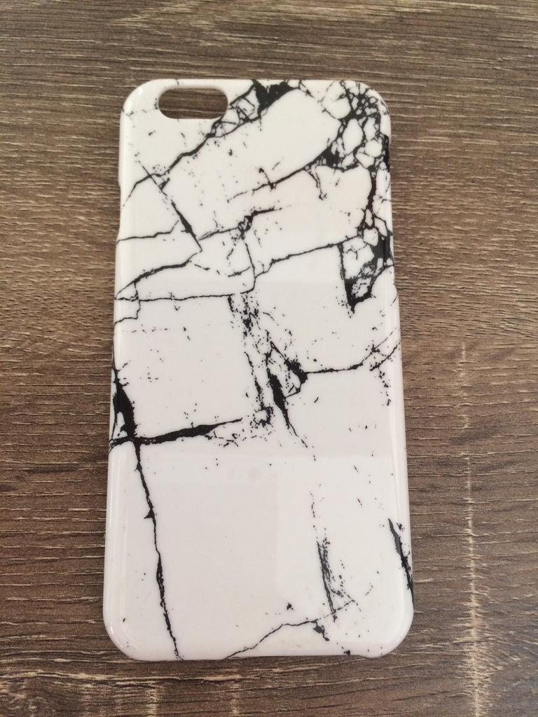Marble iPhone 6 Case - White/Black