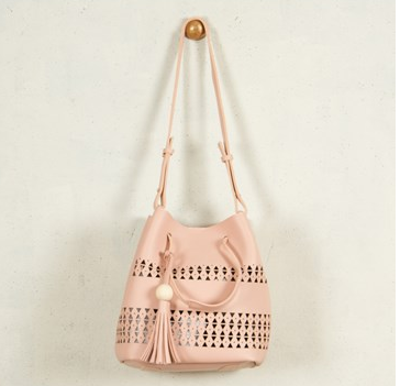 Timber Ball & Tassel Bag
