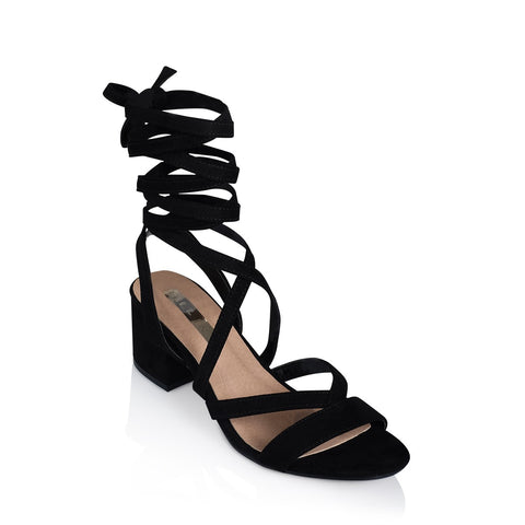 Taylor Low Block Heel - Black Suede