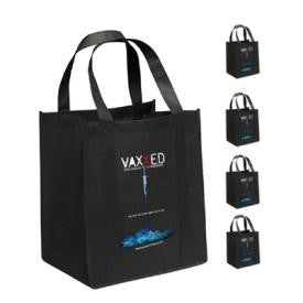 VAXXED Poster Non Woven Grocery Tote  (Set of 4)