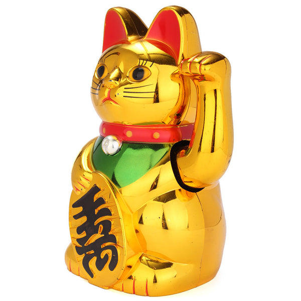Waving Lucky Money Cat Figuring for Wealth and Fortune