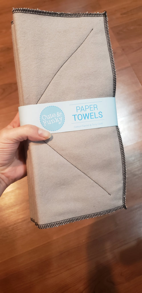 Solid color paperless towels - Cute and Funky