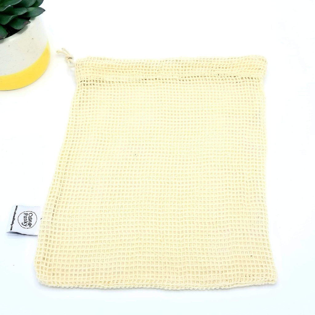 Mesh Wash Bag for Reusable Cotton Rounds - Cute and Funky