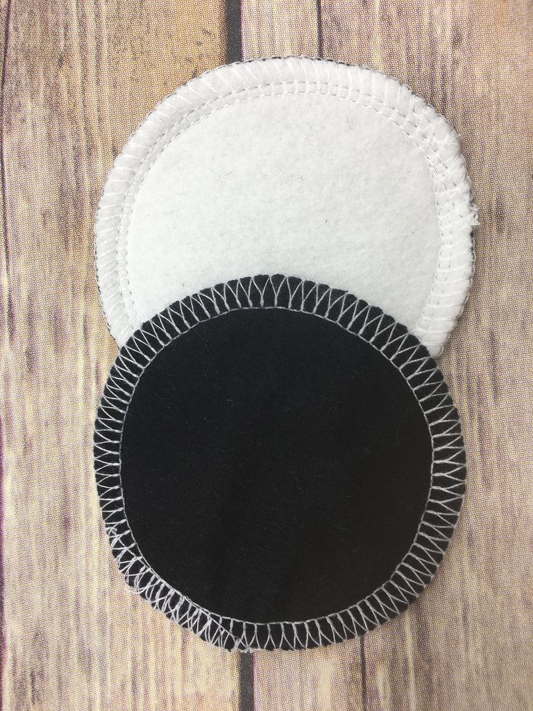 Reusable Cotton Rounds- Black and Organic Bamboo - Cute and Funky