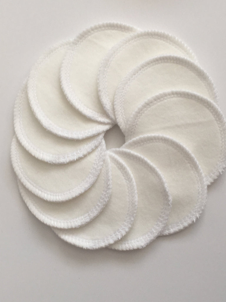 Organic Reusable Cotton Rounds- 20 pads- 1 ply - Cute and Funky