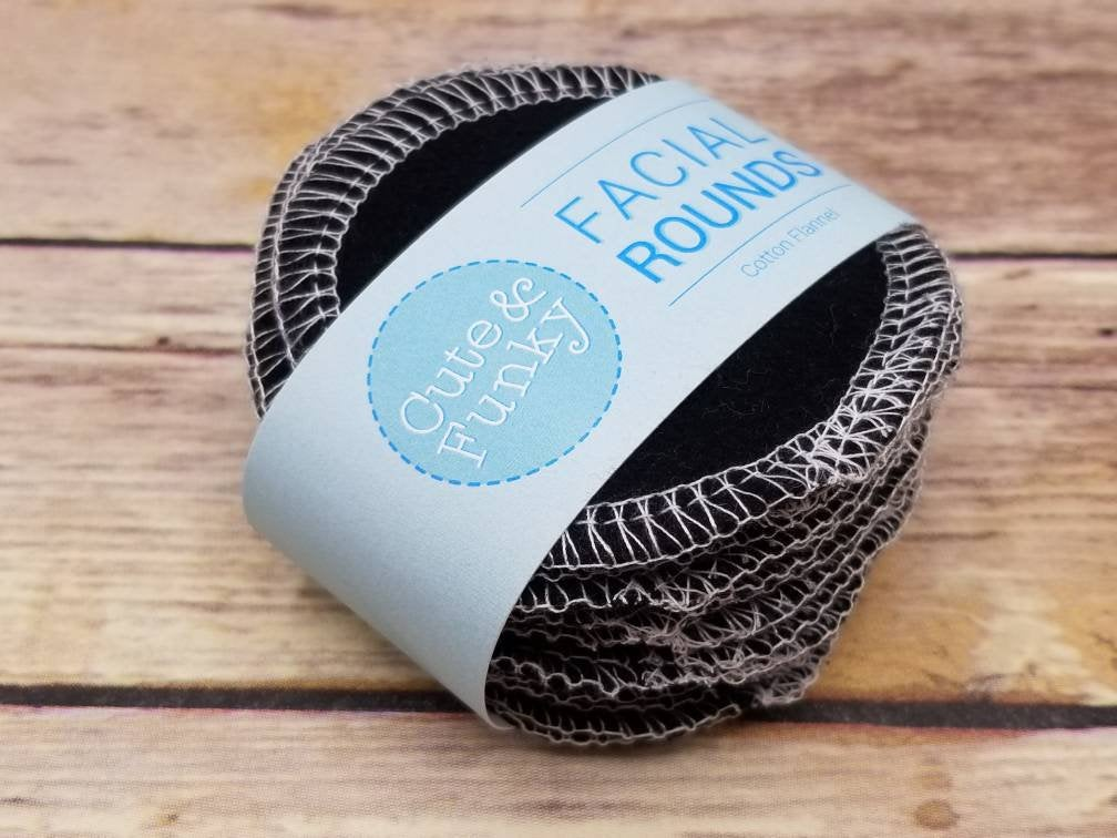Reusable Cotton Rounds- Solid Colors - Cute and Funky