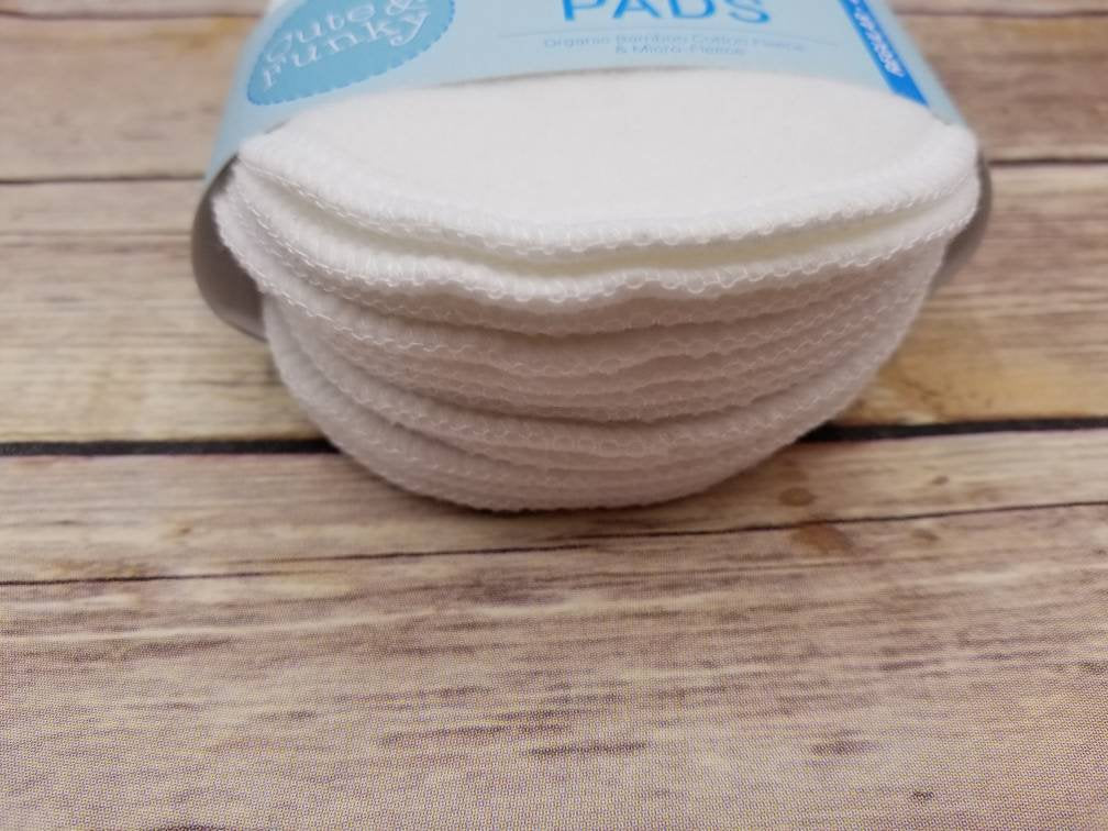 Organic Bamboo Nursing Pads - 6 Pairs/12 total - Cute and Funky