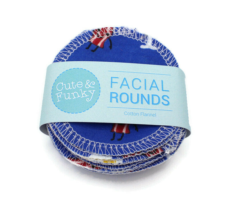 Facial Rounds- Set of 20- I love Bacon Print - Cute and Funky