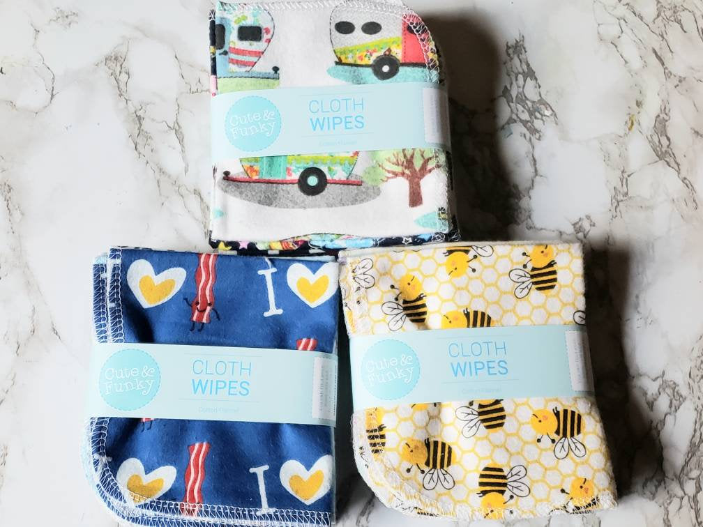 Paperless Towels- 12 Random Prints - Cute and Funky