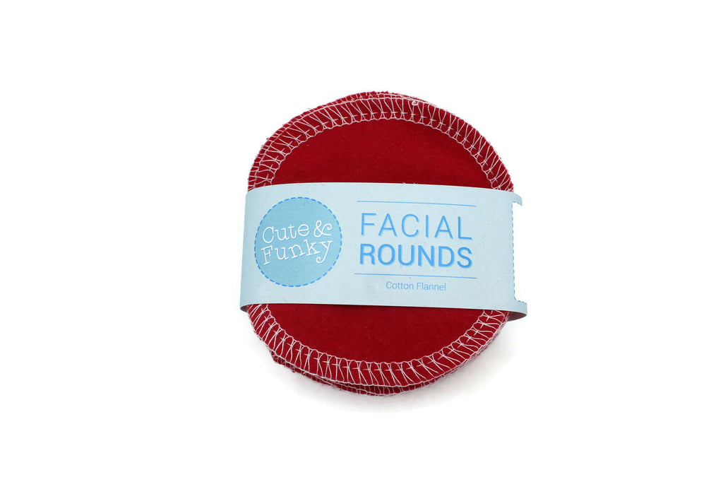 Facial Rounds- Set of 20- Red - Cute and Funky