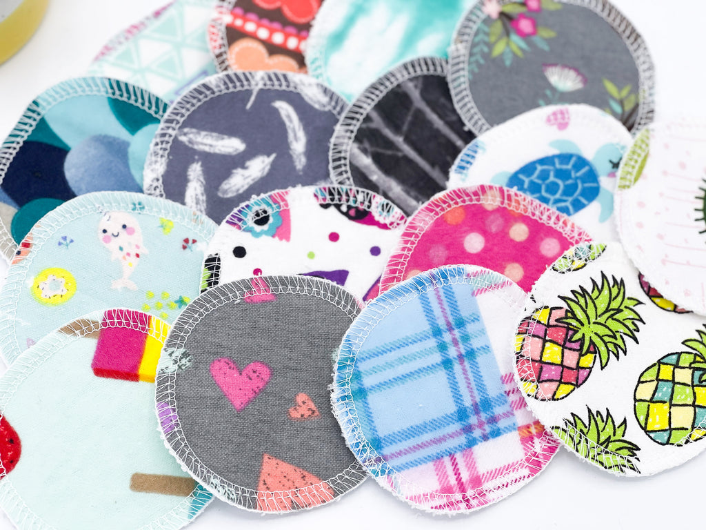 Cloth Face Scrubbies, Random Prints, Washable Gentle Exfoliating Pads, Facial Rounds, Toner Pads, Face Scrubbies, - Cute and Funky