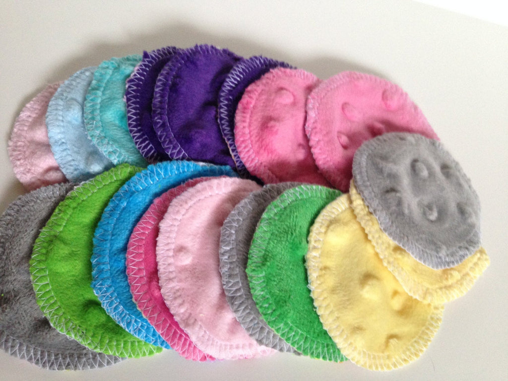 Reusable Minky Cotton Rounds- 20 Random Prints/Patterns - Cute and Funky
