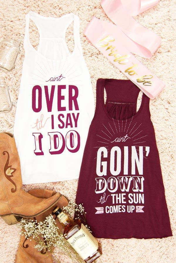 Ain't Over 'til I Say I Do Tank Tops