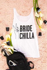 ✌️ Bride Chilla | Girl Gang - Laid back bachelorette party tank tops