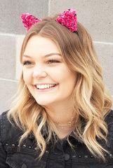 Floral Cat Ear Headbands | Lots of colors!