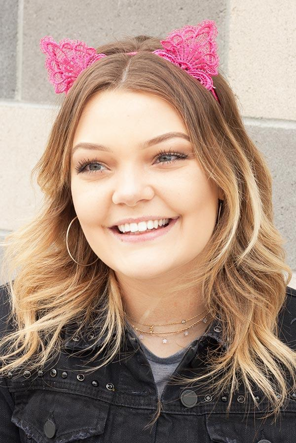 Lacy Cat Ear Headbands | Lots of colors!
