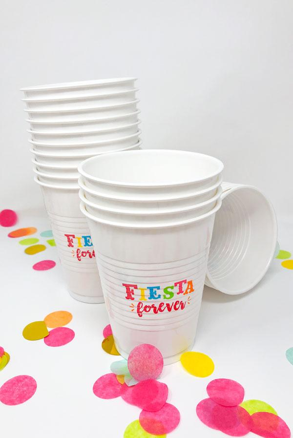 Disposable Fiesta Party Cups: Set of 25
