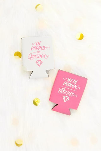 Champagne Bachelorette Party Koozies | Poppin' Bottles