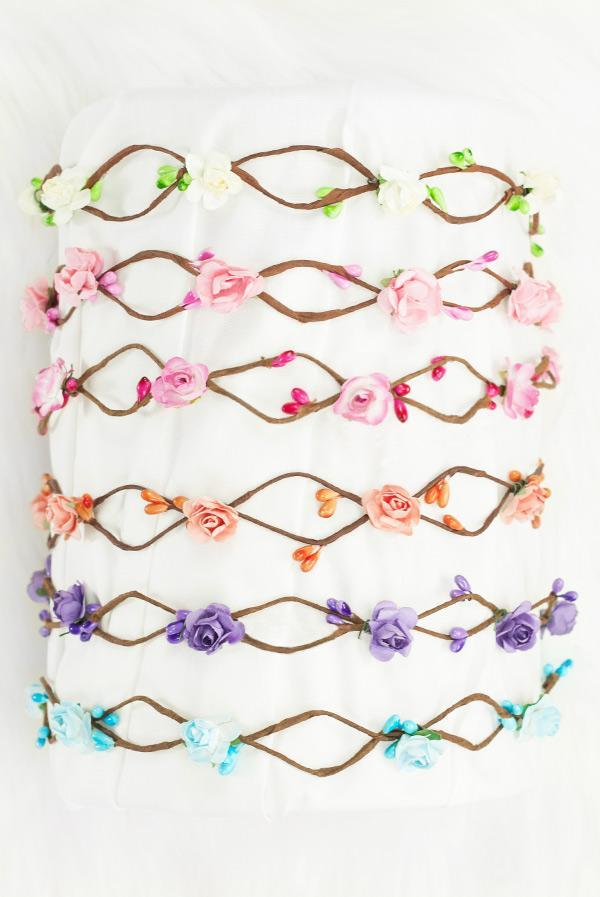 🌸 BOHO bridal flower crowns | Lots of colors!