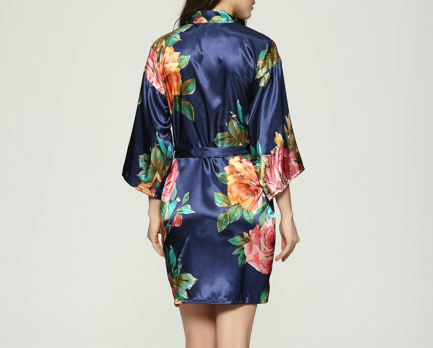 Satin Floral Print Robe - Lots of Colors!