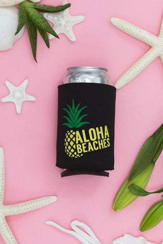 Pineapple Bachelorette Party Koozies - Aloha Beaches | Aloha Bride
