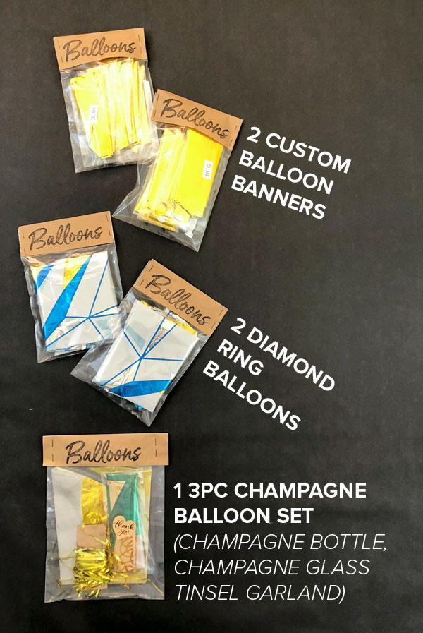 Champs Drink Champs - 7pc Balloon Decoration Pack