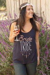Cute Boho Bachelorette Party Tank Tops - Bride | Bride Tribe