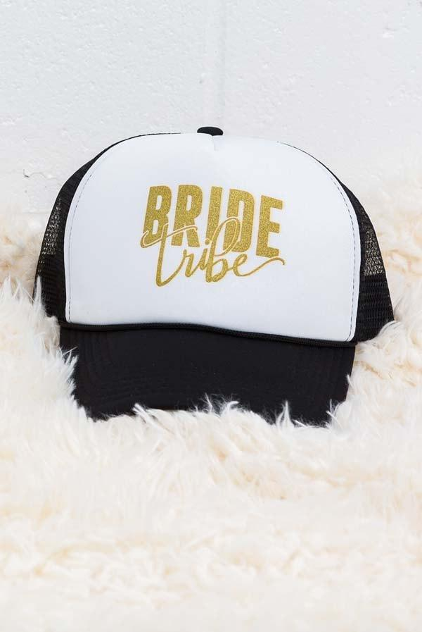 Bride and Bride Tribe Trucker Hats